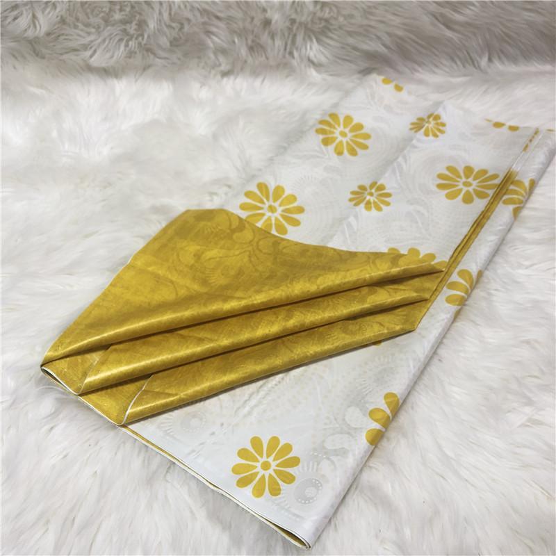 Gold Shadda Fabric African Garment Textile Mauritania Damask Super Bazin Riche MIX design only