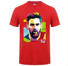 Мужская футболка с коротким рукавом Messi 10 с модным принтом Барселона, хлопковая футболка, топы, Аргентина, Джерси, хипстерская футболка для ф...(Китай)