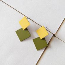 Темперамент ретро геометрические серьги-гвоздики, Модные Цветные Серьги с джокером, ювелирные изделия, аксессуары(Китай)