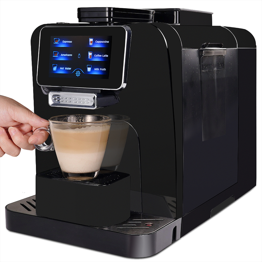 Офисная кофемашина с сенсорным экраном полностью автоматическая кофеварка с шлифовальной машиной