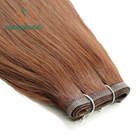 Wholesale Human Hair Skin with silk inside Super thin no shedding no dropping super strong super invisible flat silk hair weft