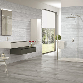 Bathroom Floor and Wall Design Anti Slip Timber Wood Look Tiles Porcelain