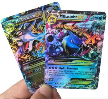 custom wholesale pokemon trading cards game Mega EX GX Pokemon Flash Card Mega Monster card