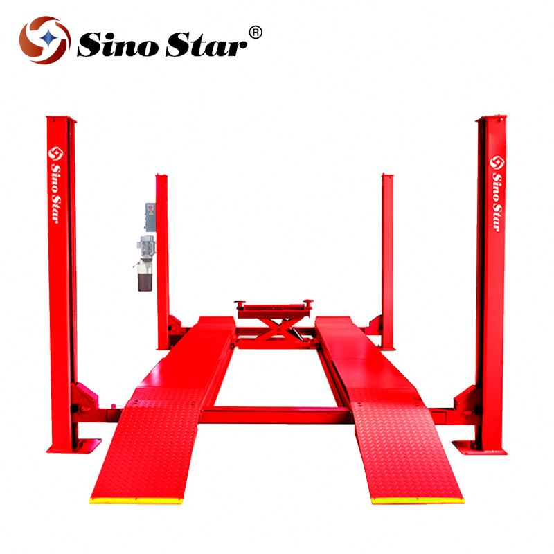 Factory price air pneumatic release wheel alignment 9000 LBS 4 post car lift for