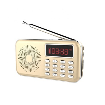 y-619 new arrival pocket radio usb speaker mini FM am radio with usb speaker MP3 music player with recording