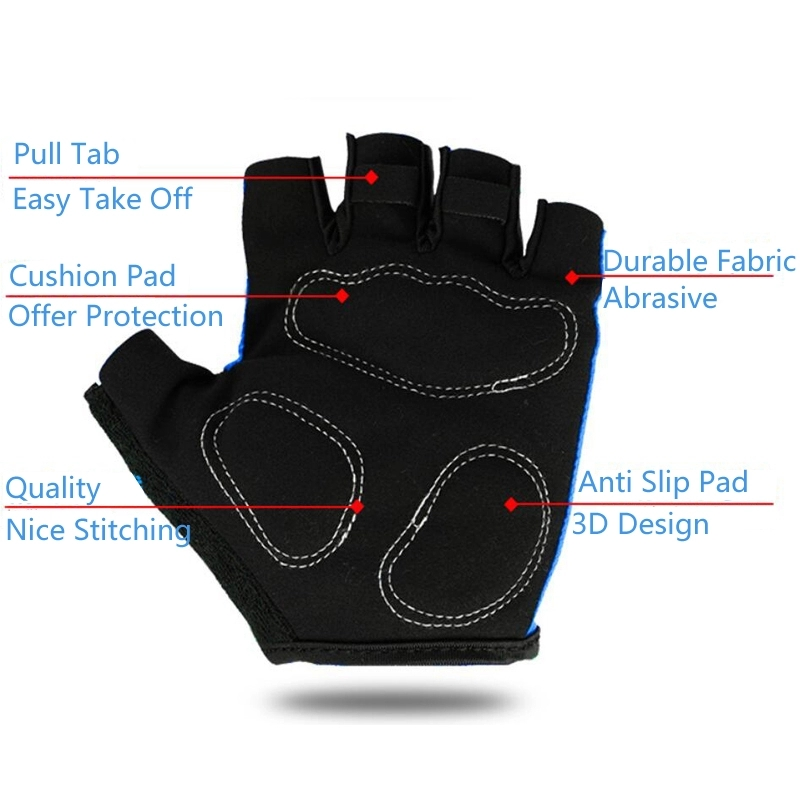 Pro GEL Pad Mens Summer Bike Sports Breathable Racing MTB Bicycle Gloves