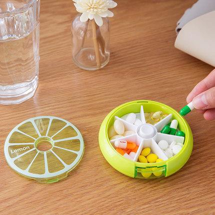 Weekly 7 Days Round Portable Plastic Travel Pill Storage Case