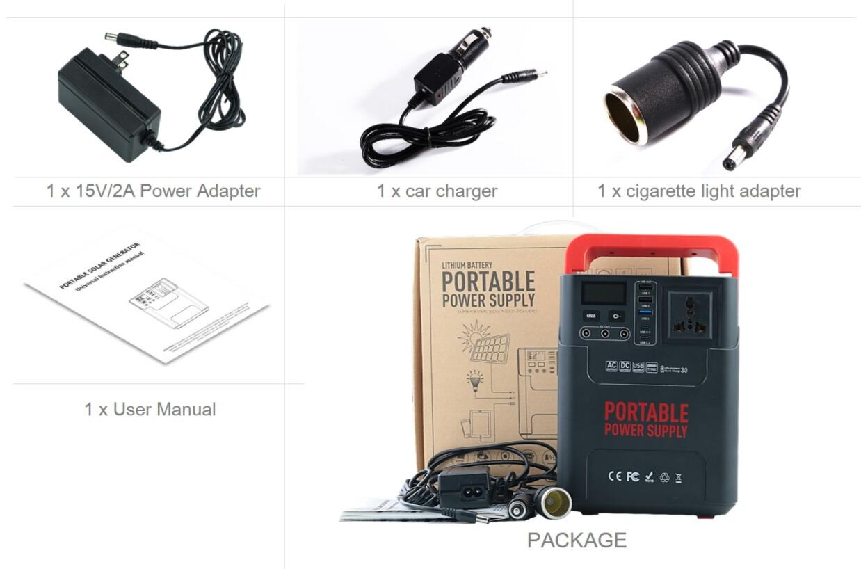 200w 300w 400w 450w Portable Solar Generator 222Wh Portable Power Station 100W Portable Power Alternative Generator