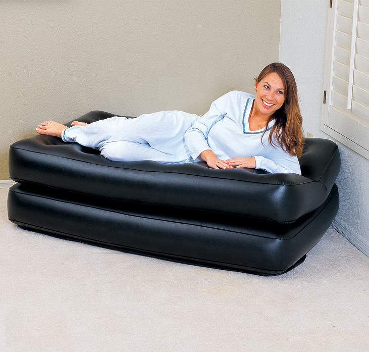 Amazon hot sale 5 in 1 inflatable sofa bed,fast delivery inflatable air sofa bed,air filled inflatable sofa furniture IN STOCK
