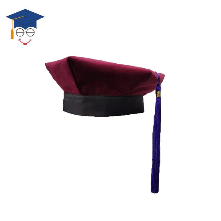 Custom UK University Of PHD Graduation Gown And Velvet 6 Tams