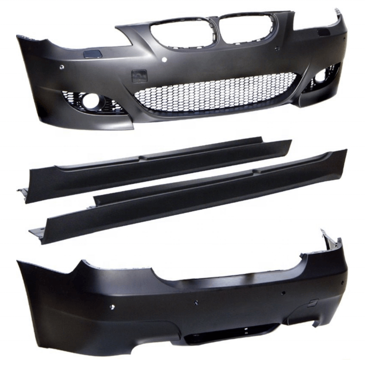 Car Front Bumper Rear Bumper Body Kit For Bmw E60 M5 2003 2008 Buy M5 E60 For Bmw E60 5 Series M5 Body Kit Front Rear Bumpers Side Skirts Plastic Body Parts M Style