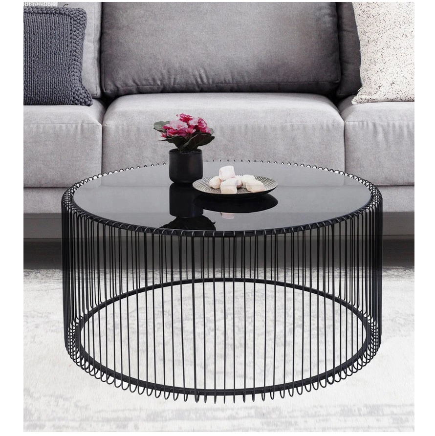 Modern Luxury Wire Mesh Cage Round Black Design Full Metal Coffee Center Table Buy Italian Design Coffee Table Modern Design New Center Table Indian Metal Coffee Tables Product On Alibaba Com [ 892 x 890 Pixel ]