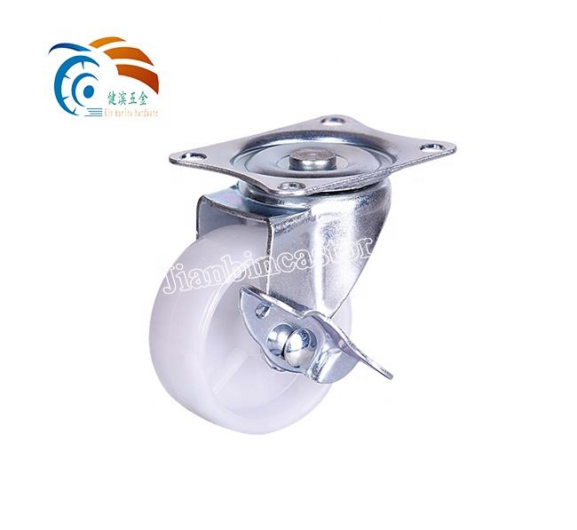 30mm rubber Light duty small non-slip 1.5 inch coocheer pp plastic caster wheels for light equipment