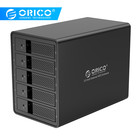 5 Hdd Sata ORICO 5 Bay 3.5'' USB3.0 HDD Docking Station Support 80TB UASP With 150W Internal Power Adapte Aluminum SATA To USB 3.0 HDD Case