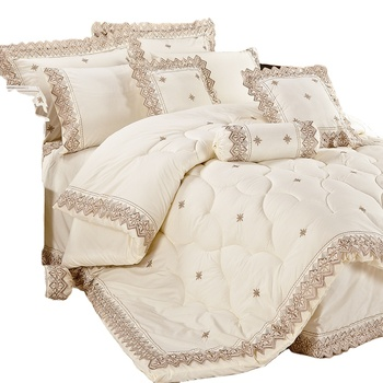 KOSMOS Bedding Polycotton Embroidery Lace Quilts and Comforters Made in China