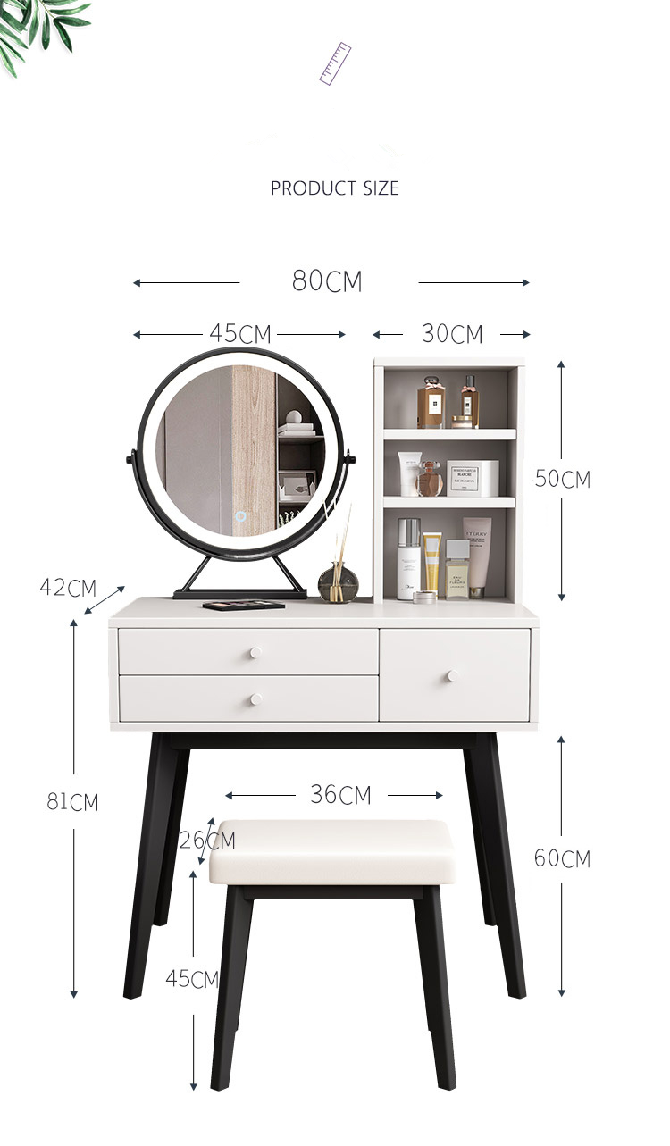 2021 hot selling fancy indoor or commercial furniture wooden material 3 drawers vanity dressers