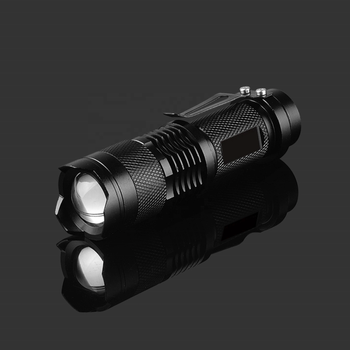 Aluminum Military Zoom 14500 AA Tactical Mini LED Flashlight, Rechargeable Waterproof Powerful Q5 Long Range Small Torch