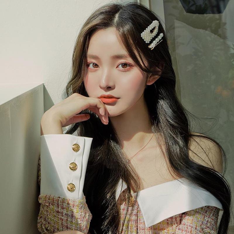 JuHu 2021 New Net Red Hairpin Bangs Top Clip Female Korean Temperament Hairpin