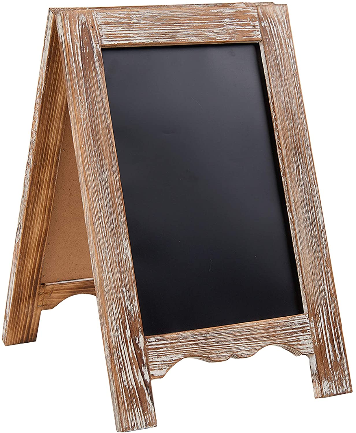 Rustic Distressed Wood Magnetic A-Frame Chalkboard Sign - Free Standing Double Sided Easel Display Board - Yola WhiteBoard | szyola.net