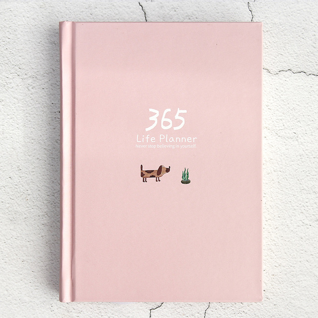 365 планировщик, блокнот, цветная внутренняя страница, дневник, повестка дня 2020, дневник, дневник, блокнот, милая ежедневная неделя, канцелярс...(Китай)