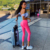 Pure Pink Slimming and Buttock Lifting Exercise Workout Yoga Leggings for Woman
