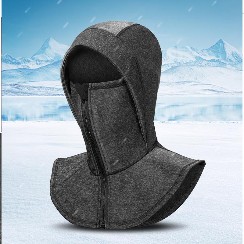 ROCKBROS Thermal Fleece Ski Masked Cap Windproof Men Women Snowboard Warmer Headgear Sport Ski Hat Cover Face Neck Shield Mask