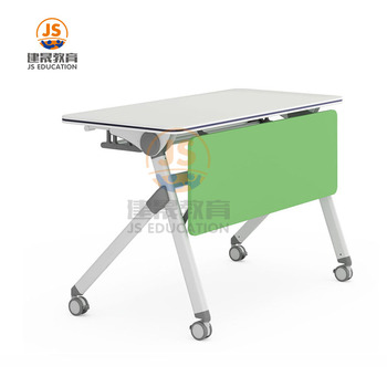 Modern office room simple design mobile metal folding training table