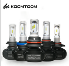 KOOMTOOM Super Luminoso Automotive Lampade di Ricambio Singolo Bianco 6500K 4000LM Auto Fari A LED 9004/HB1