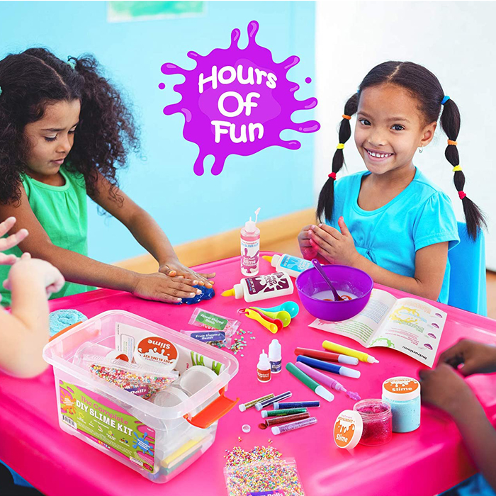 Art Craft Slime Supplies DIY Party Activity Slime Making Kit for Girls Boys