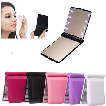 Factory OEM Battery Operated Desktop Makeup Mirror Led Lady Pocket Makeup Mirror