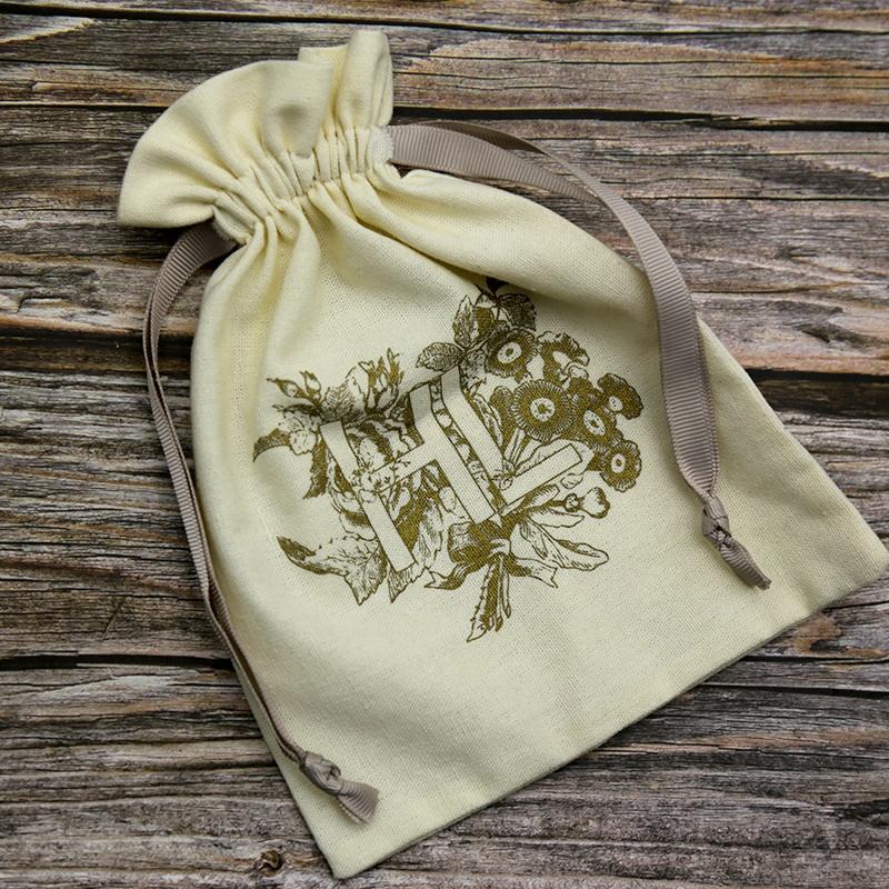Индивидуальные муслиновые хлопковые Ювелирные мешочки с логотипом
