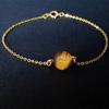 10MM Tiger eye + Gold Chain
