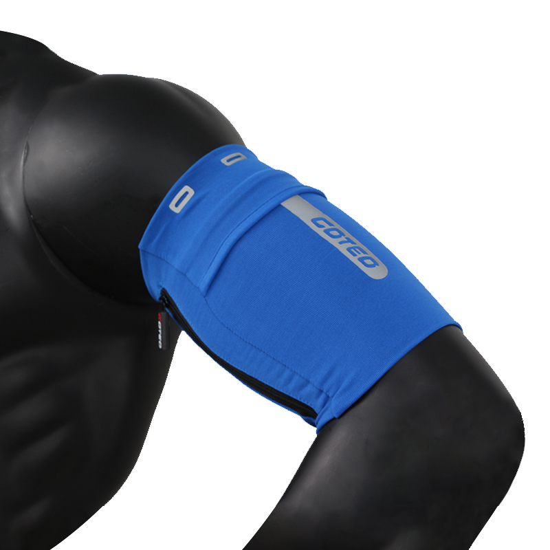 Breathable Sports Sleeve Arm Elastic Mobile Phone Bag for Running Blue