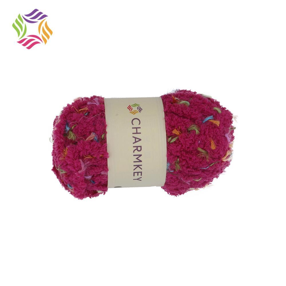 Charmkey fancy soft fluffy 100% polyester chenille yarn for hand knitting scarf sweater