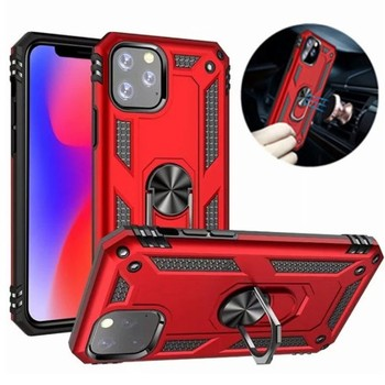 For iphone 11 Pro Max 12 Hybrid Case Shockproof Armor Stand Holder Car Magnet Ring TPU PC Shockproof Cover Phone Case