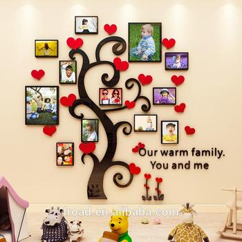 Large Family Tree Photo Frame Love Tree 3d Acrylic Wall Sticker Decal