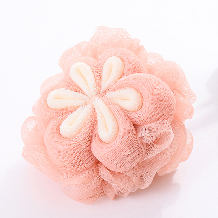 Assorted colors soft natural exfoliating bath shower ball sponge eco friendly body loofah mesh bath sponge ball