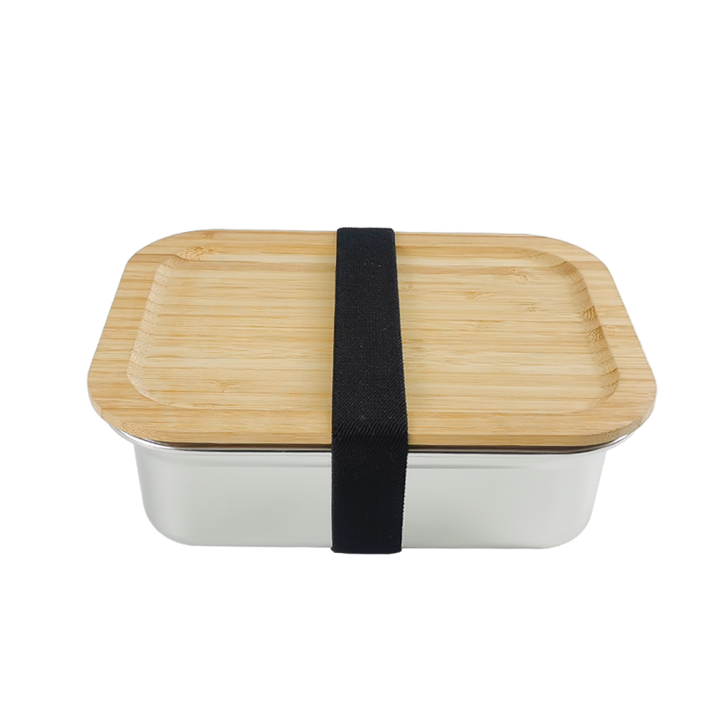 2020 New bamboo bento lunch box eco, kids stainless steel lunch box bamboo lid for freshness preservation