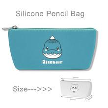 Силиконовый Футляр для карандашей NBX, подставка-держатель для ручек, сумка для макияжа, органайзер для канцелярских принадлежностей с молни...(Китай)