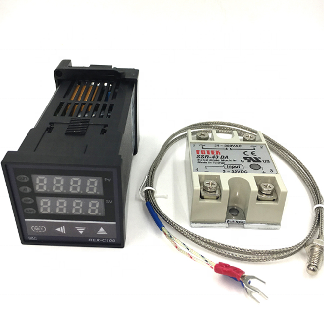 REX-C100 Digital PID Thermostat temperature Controller SSR output K Thermocouple