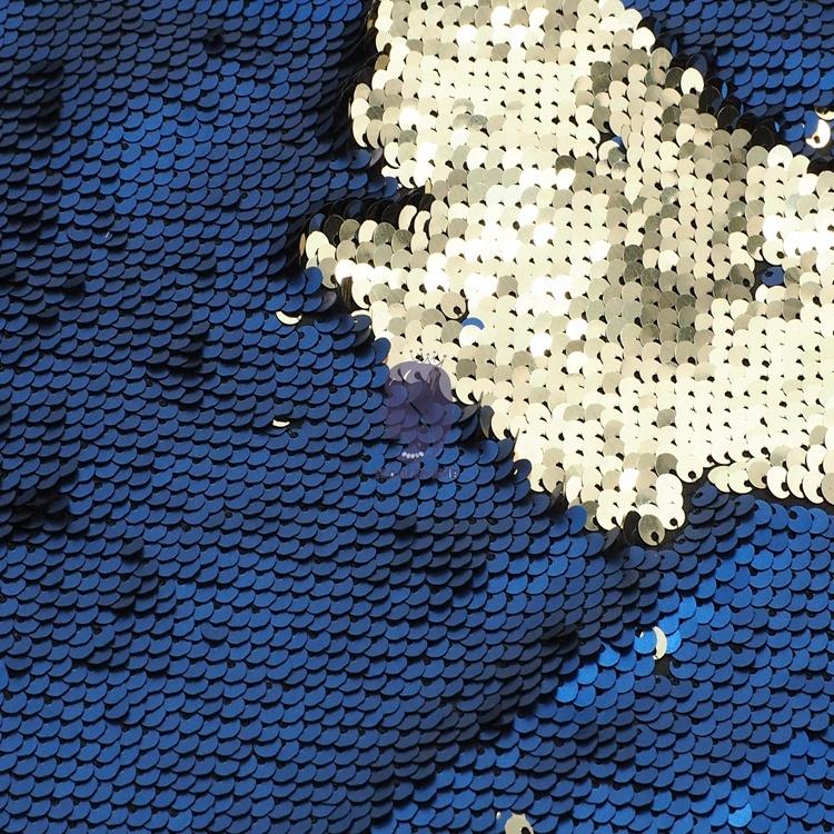 Двухсторонний Блестящий Фон Ткань для девушек женщин вечернее платье двусторонние блестки Рыба масштаб 2 тона Русалка кружевная ткань