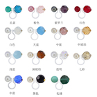 Beads Pearl Clip Clip Clip Earrings Fashion Type Without Earhole Resin 2 Beads U-shaped Pearl Clip Earrings