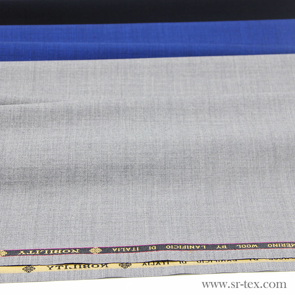 High quality comfortable feel merino wool fabric for suiting