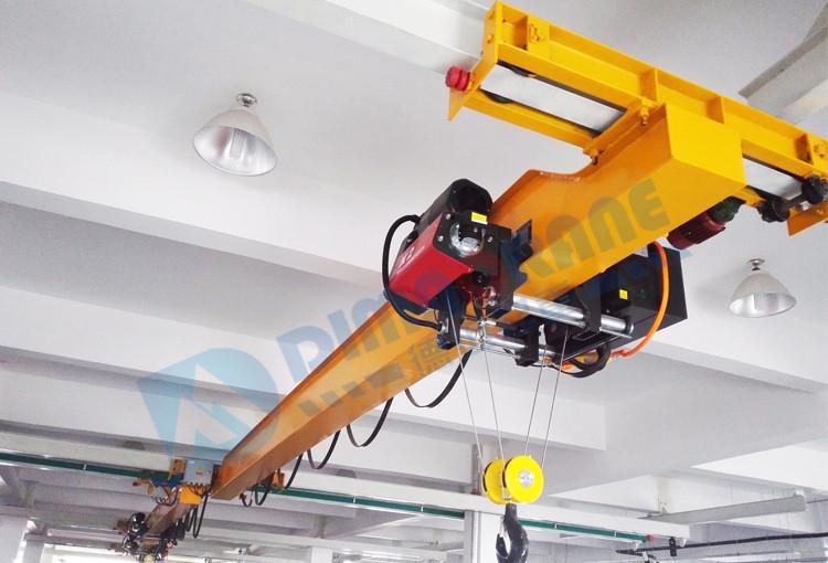 5T 8 ton 10 ton europe suspension style underslung single beam girder bridge EOT overhead crane with low headroom design price