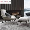rope sofa chair +foot stool