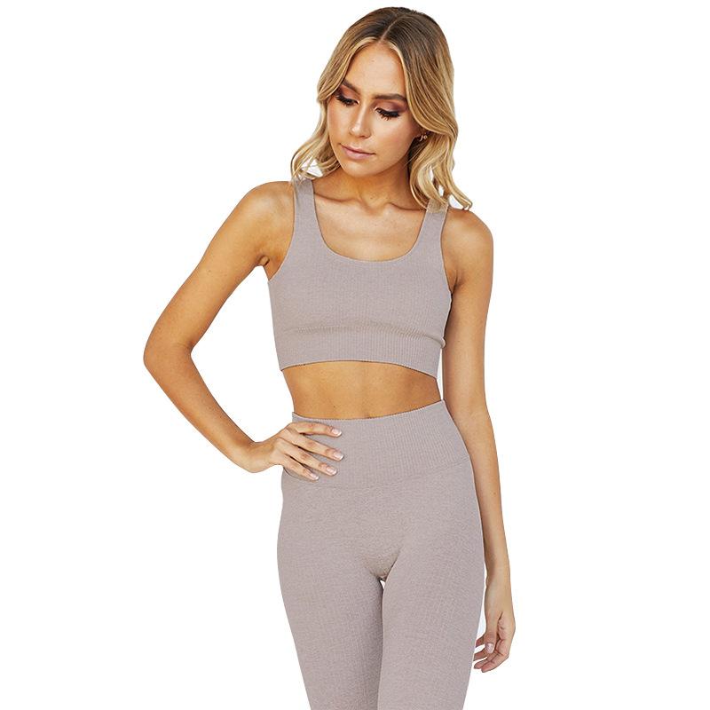 Комплект для йоги, Быстросохнущий Спортивный костюм, женский спортивный костюм для бега, бюстгальтер для фитнеса, эластичные леггинсы для тренировок, одежда для спортзала, комплект из 2 предметов