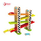 F1 Racing Track Child Toys Natural Wooden Educational Toys Kids