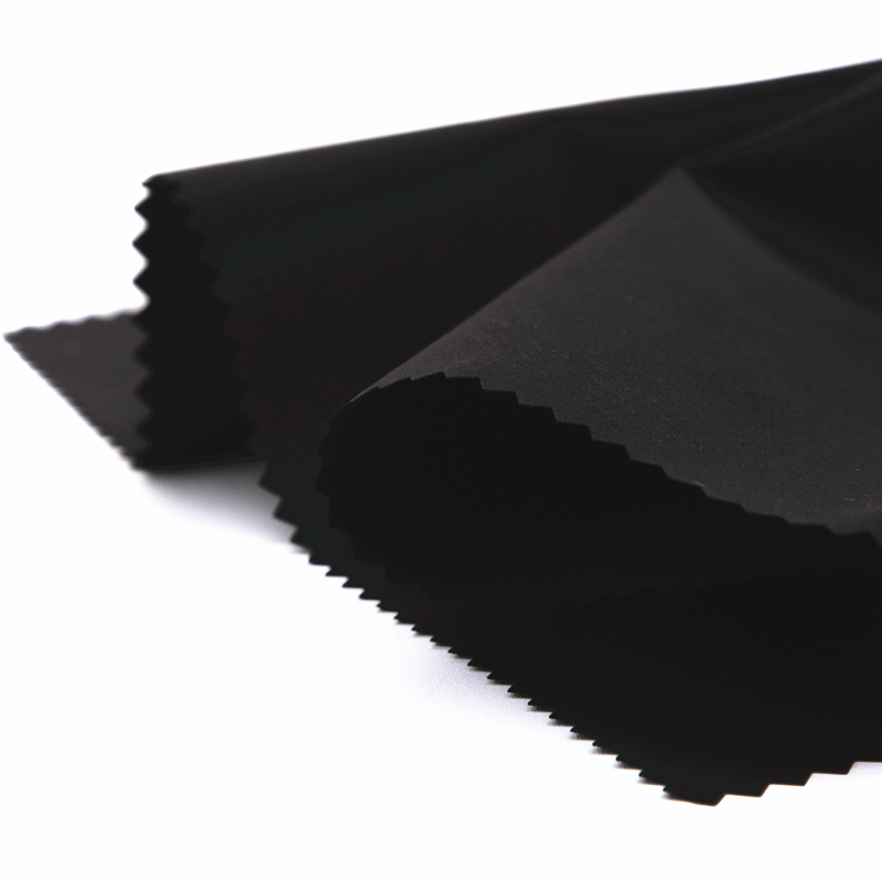 100 полиэстер, глобальная переработанная плетеная микроперсиковая ткань, полиуретановое покрытие, подходит для курток и пальто