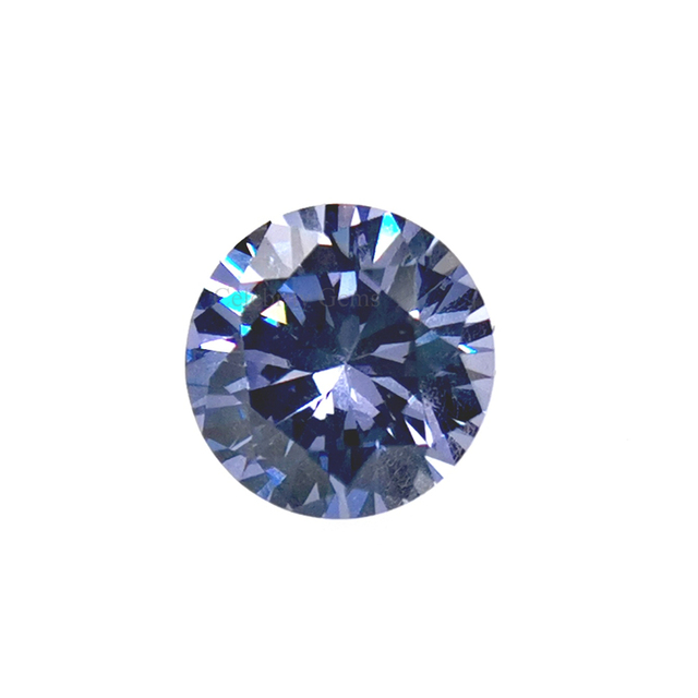 2ミリメートルに15ミリメートルTanzanite Round Brilliant Cut Cubic ZirconiaためJewelry Making