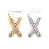 X(gold or rhodium plated)
